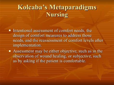 end of life comfort measures katherine kolcaba rn phd comfort theory
