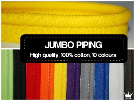 How To Sew Piping For Upholstery by 2 Mtrs Jumbo 5mm Flanged Piping Cord Rope