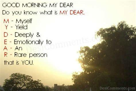 my dear my dear desicomments
