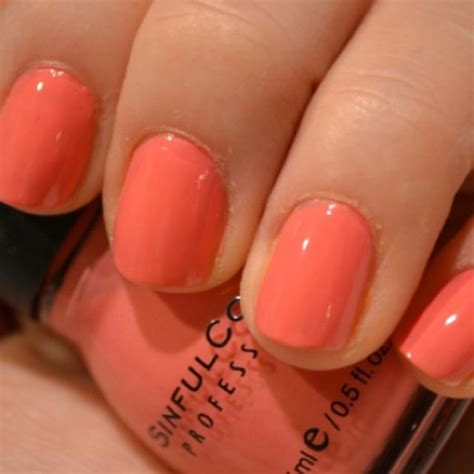 coral color nails sinful colors island coral other polishes i own nails