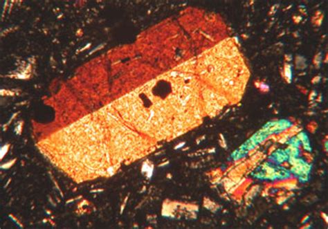 cpx thin section clinopyroxene