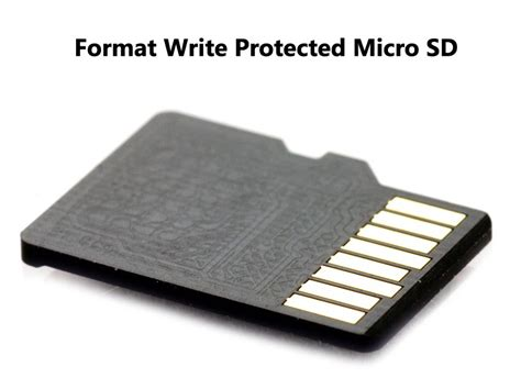 how to make sd card not write protected format write protected micro sd card solution