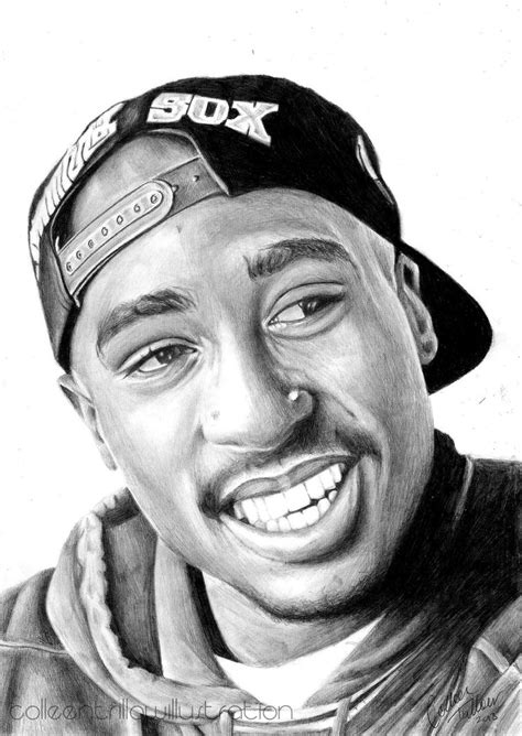 2pac Sketches by Tupac Shakur Drawing By Colleentrillow Drawings
