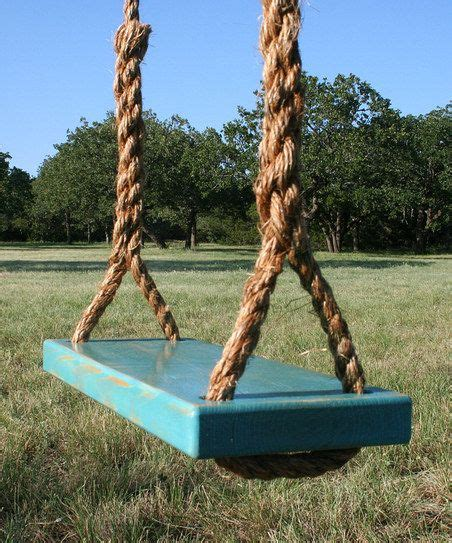 rope tree swings blue double rope tree swing