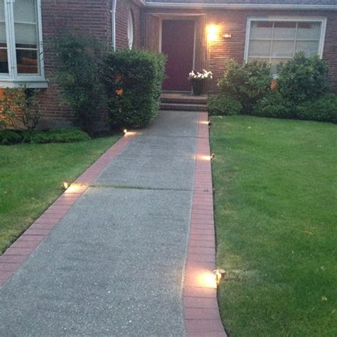 walkway lights low profile lighting for walkway midcentury landscape