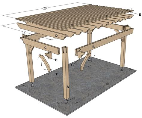 Timber Frame Pergola Plans by Plan For A 12 X 20 Timber Frame Over Sized Diy Pergola