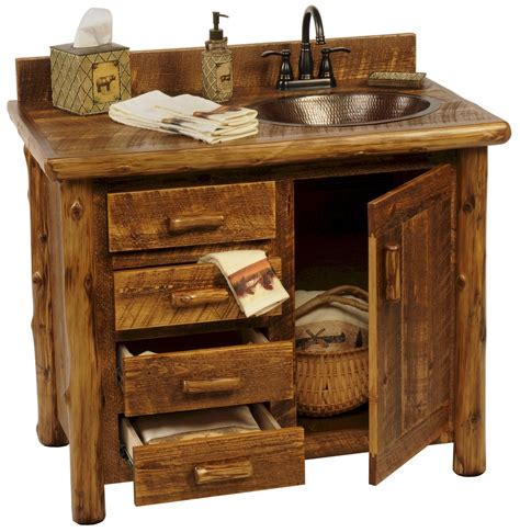 Rustic Vanities For Bathrooms Sawmill C Rustic Vanity