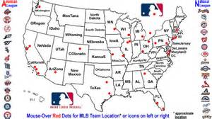 mlb united states map mlb team locations major league baseball where teams play