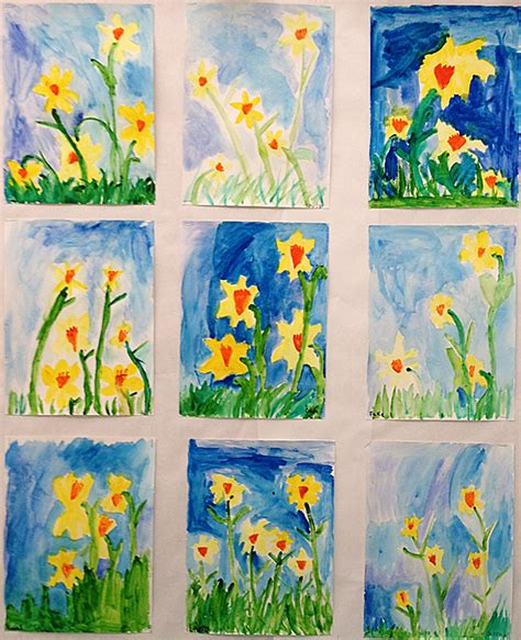 spring painting ideas spring art grade onederful