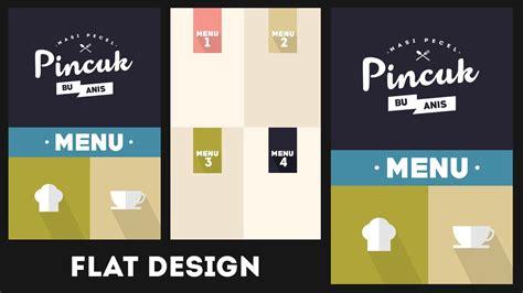 flat design restaurant menu   template