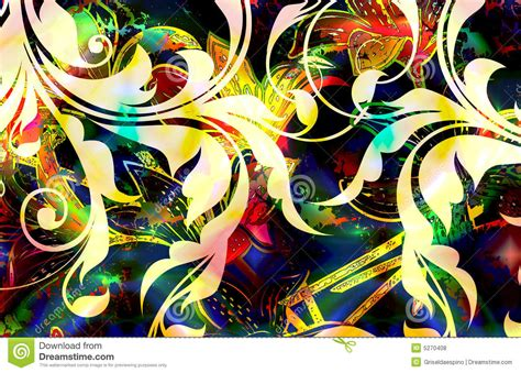 design batik flora floral batik stock illustration illustration of scroll