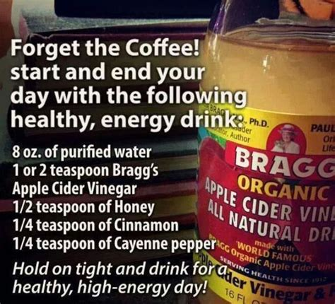 energy drink in the morning bragg morning energy drink health wellness and fitness