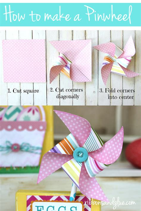 How To Make A Pinwheel Out Of Paper - easter wood blocks