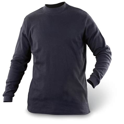 Mock Neck Sleeve T Shirt mock turtle neck made in usa