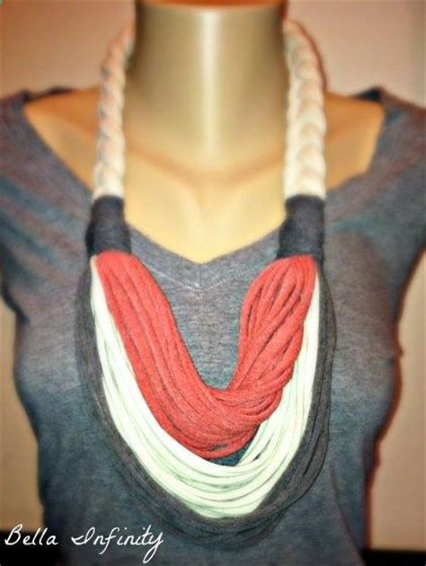diy tshirt scarf more like a necklace if my closet and