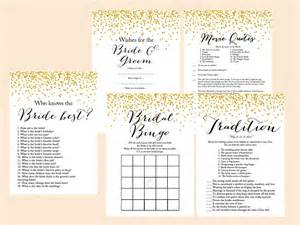 bridal shower free printable gold confetti bridal shower set magical printable