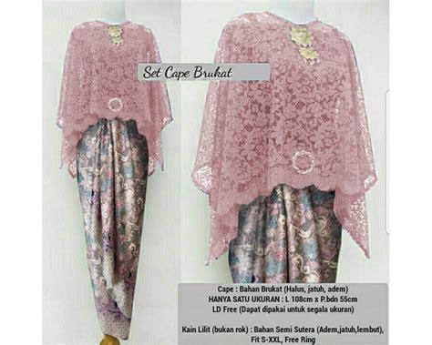 Cape Dress Nagita Kode 02 baju korea st kb cape brukat
