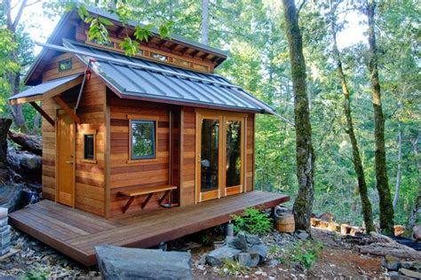 tiny house in the woods of sonoma county home design