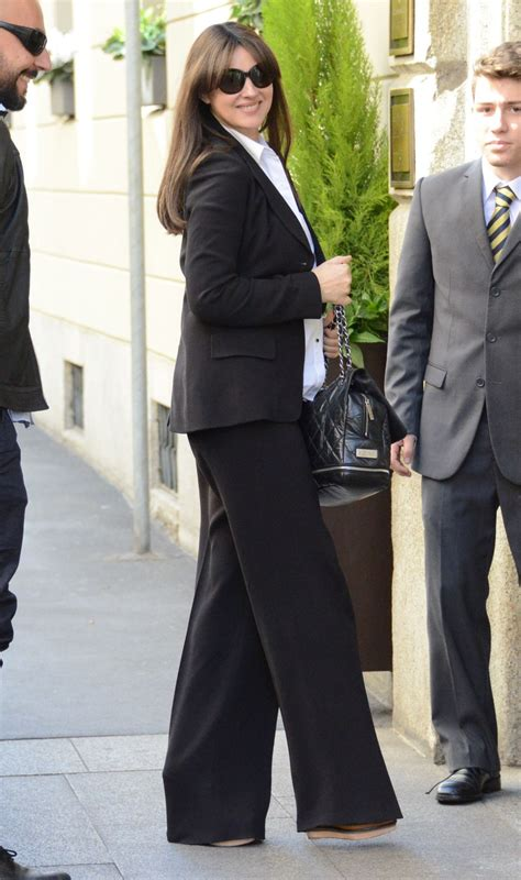 monica bellucci style monica bellucci style inspiration arrives at a hotel in