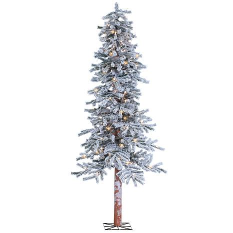 heavy flocked christmas tree clearance sterling 6 lighted flocked alpine tree 7937945 hsn