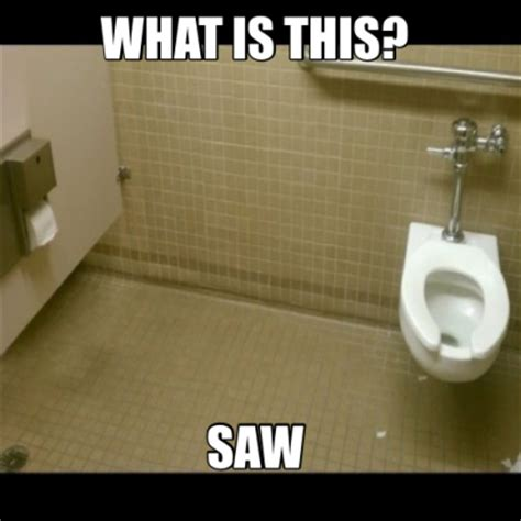 Funny Toilet Memes - when toilet paper is far away from the toilet meme