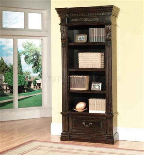 vintage burnished black classic palazzo museum bookcase