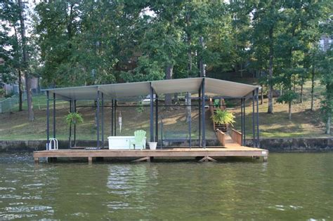 boat dock roof design a more affordable stationary dock design with a metal roof
