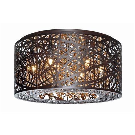 inca bronze 7 light flush mount ceiling light by maxim