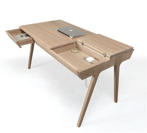 desks designs metis a solid wood desk with plenty of storage design milk
