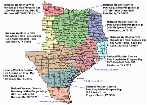 east texas map east texas nws coop information contacts