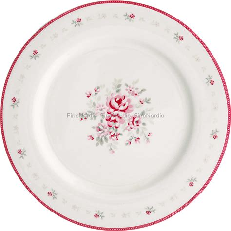 greengate etagere greengate dinner plate flora white