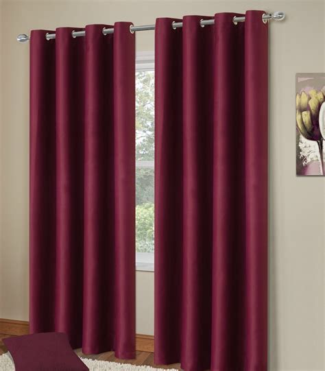 plum curtains plain plum colour thermal blackout bedroom livingroom