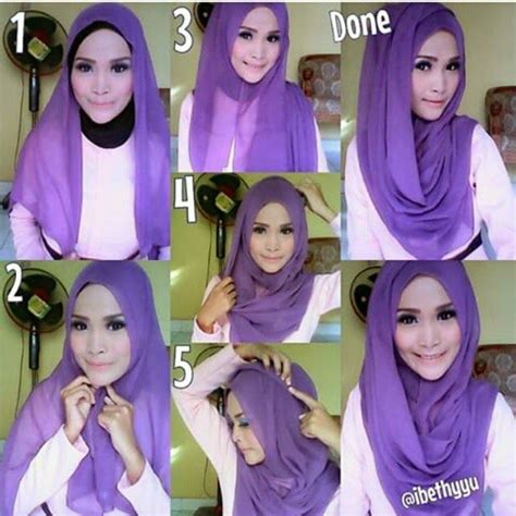 tutorial hijab variasi kumpulan gambar tutorial hijab modern casual simple