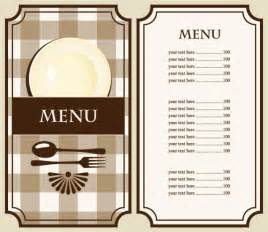 Free Cafe Menu Templates by Set Of Cafe And Restaurant Menu Cover Template Vector 02