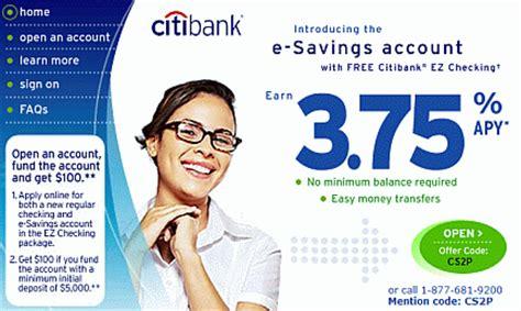 cd at bank citibank savings account 100 bonus