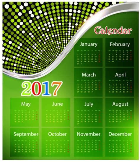 design calendar background calendar 2017 design with green background modern style