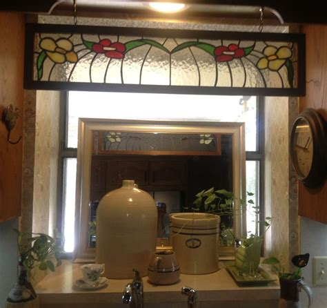 Interesting Idea Added Mirror In Kitchen Sink Window Kitchen Sink Curtain Ideas