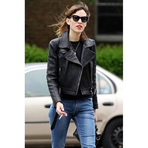 buy womens biker buy alexa chung slim fit black biker women leather jacket
