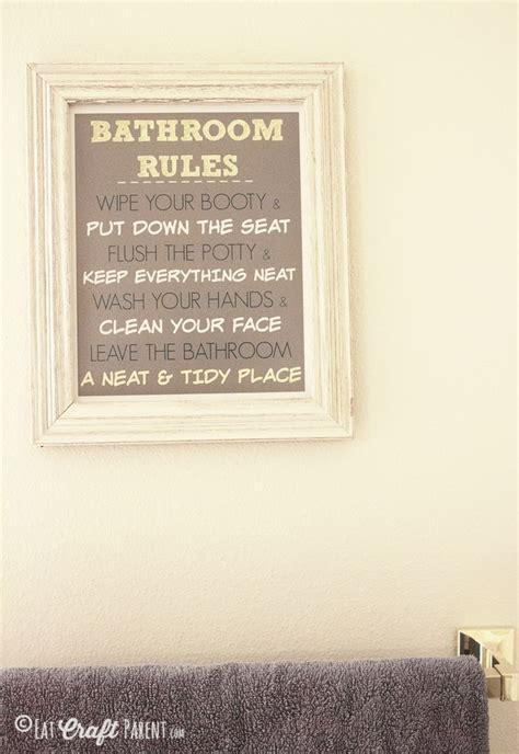 bathroom rules printable  kids  home decor