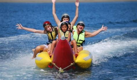 banana boat ride musandam banana riding in khasab musandam with full day dhow tour