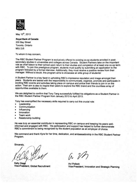 Letter Of Agreement Mcgill Rbc Reference Letter