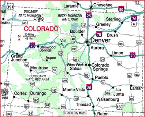 colorado map of us maps colorful colorado