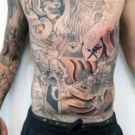 guy stomach tattoos 50 japanese chest tattoos for masculine design ideas