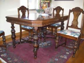 Antique Dining Room Set Antique Dining Table And Chairs Marceladick