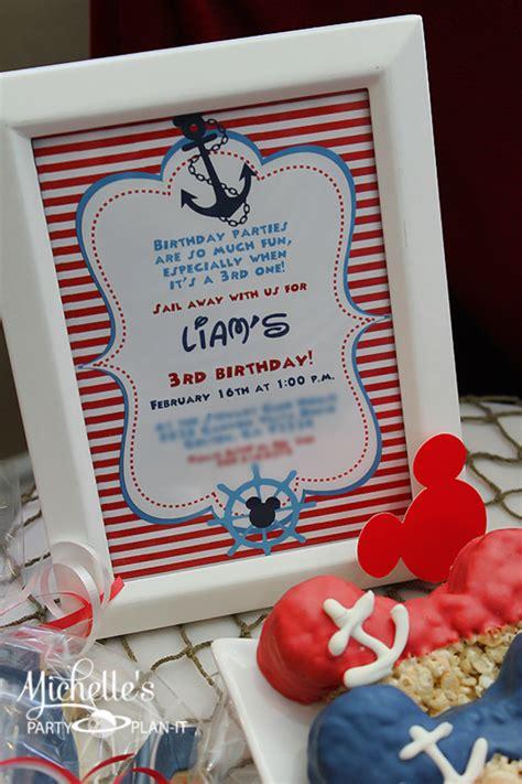 karas party ideas nautical boat mickey mouse boy disney