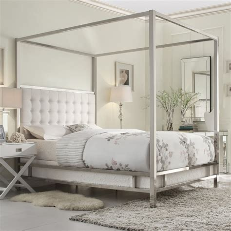 silver canopy bed frame metal canopy bed frame silver images 07 bed