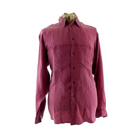 vintage mens 90s silk shirt blue 17 vintage fashion