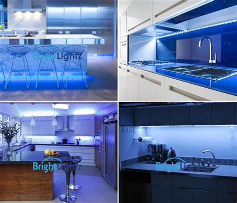 blue led light kit 8 x 50cm kitchen lighting
