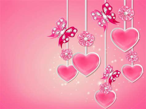 wallpaper design love corazones rosados butterflys flores fondos de pantalla