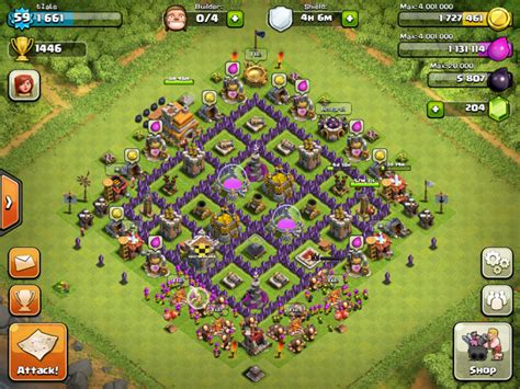 clash of clans strategy level 7 farming base design town hall clash of clans tips town hall level 7 layouts